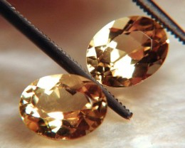 3.76 Carat VVS1 Matched South American Golden Beryls