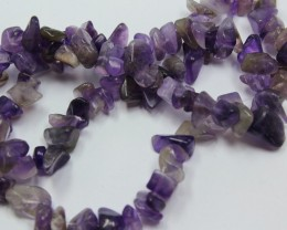 180 CTS 8-10 MM NATURAL AMETHYST CHIPS BEADS 16 INCHES