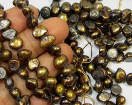 THREE STRANDS 6MM COFFE  F/W PEARLS  RT 2613