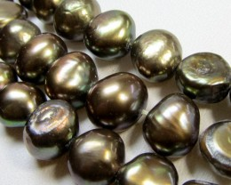 THREE STRANDS 6MM COFFE  F/W PEARLS  RT 2616
