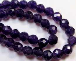 6MM FACETED 16 INCH OR 40 CM   AMETHYST STRAND  RT 2669