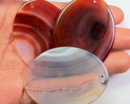 TRADE PARCEL 3 LARGE UNIQUE AGATE STONES 50X37MM  AGR17