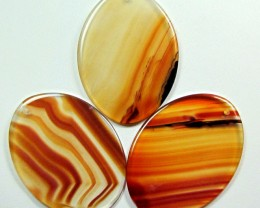 TRADE PARCEL 3 LARGE UNIQUE AGATE STONES 50X37MM  AGR22