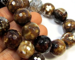 468 CTS  ROUND 12 MM  UNIQUE CRAZY   AGATE STAND   AGR 93