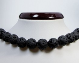 423 CTS   14 MM ROUND PACIFIC LAVE BEAD STRAND  AGR 106