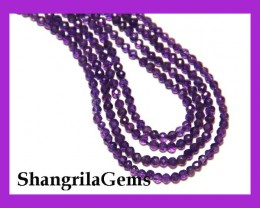 "AAA 3mm Purple AMETHYST faceted beads 14""  line"