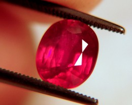 3.43 Carat Pigeon Blood Ruby - Gorgeous Gemstone