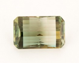 SALE WAS $2486 ~ 11.3ct Oregon Sunstone, Green/Gold Emerald Cut  (S182)