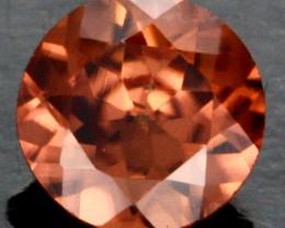 0.58 CTS CERTIFIED CHOCOLATE ZIRCON - DIAMOND CUT [ZCO8]