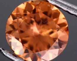 0.54 CTS CERTIFIED CHOCOLATE ZIRCON - DIAMOND CUT [ZCO10]