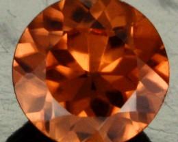 0.82 CTS CERTIFIED CHOCOLATE ZIRCON - DIAMOND CUT [ZCO19]