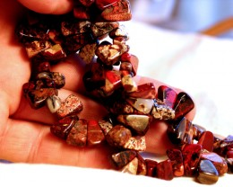 466 Carat Jasper Strand - 14mm pcs - 15.5 inches