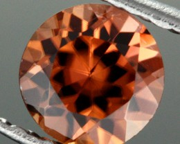 0.82 CTS CERTIFIED CHOCOLATE ZIRCON - DIAMOND CUT [ZCO36]