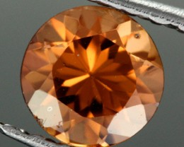 0.98 CTS CERTIFIED CHOCOLATE ZIRCON - DIAMOND CUT [ZCO44]
