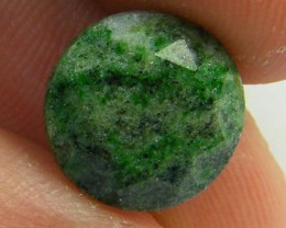 5.40 ct FACETED ROUND  ZOISITE 11MM BY 11MM BY 7MM