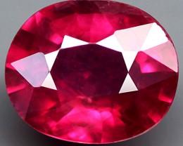 2.03 Carat Fiery Ruby Pinkish Red Beauty