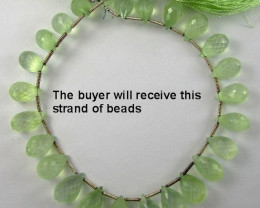 AAA+ 10-13MM GORGEOUS PREHNITE FACETED BRIOLETTE DROP