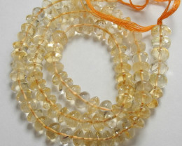 ABSOLUTELY GORGEOUS 5X6MM CITRINE SMOOTH BUTTON BEADS!!