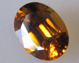 2.15cts Australian Oval Cut Orange Zircon