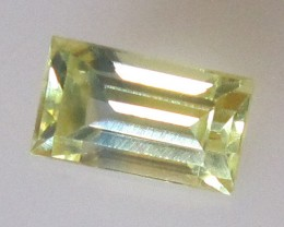 Australian Yellow Parti Colour Baguette, 0.89cts