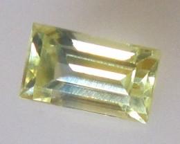 0.89cts Australian Yellow Parti Colour Baguette