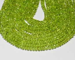 "2.5 to 3mm PERIDOT faceted roundelle beads AAA 13.5""  per003"