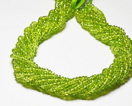 "3mm to 4mm PERIDOT faceted  beads AAA 13.5""  per001"