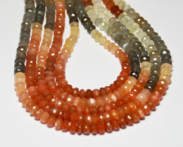 AAA  multi-colored pink moonstone beads 5mm - 5.5mm 15-16""