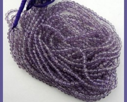 FABULOUS 4.5-5MM 'A' SMOOTH ROUND AMETHYST BEADS FROM BRAZIL