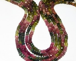 NEW ARRIVAL AA Grade WATERMELON TOURMALINE beads 3-4mm 14""