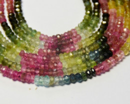 AAA Watermelon Tourmaline Beads 2.5-3.5mm 13in TOU008 SALE