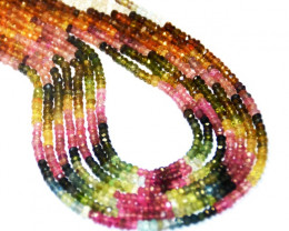 "NEW ARRIVAL AAA 2.5-3.5mm  TOURMALINE Beads 7"" half line"