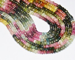 "13"" LINE 3.5mm AA+ WATERMELON TOURMALINE beads TOU007"