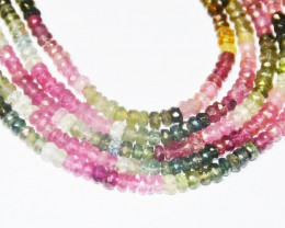 "3mm WATERMELON TOURMALINE AA+ Beads 13"" TOU006"
