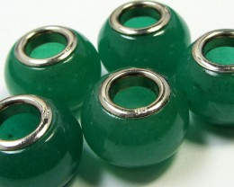 15 MM  NEW  AVENTURINE BEADS SILVER 925 AGR 211