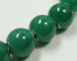 12 MM  NEW  AVENTURINE BEADS SILVER 925 AGR 213