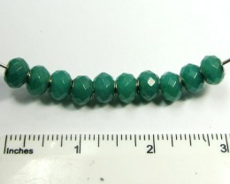 11 MM FACETED  NEW  AVENTURINE BEADS SILVER 925 AGR 214