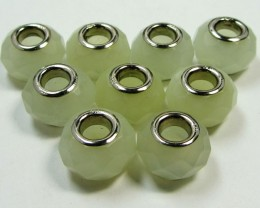 11 MM NEW JADE BEADS SILVER 925  AGR 222