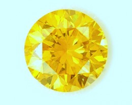NATURAL-FANCY -CANARYYELLOW DIAMOND- 0.38CTWSIZE-1PC,NR