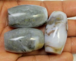 236 CTS PARCEL  THREE AGATE  BEADS AGR 267