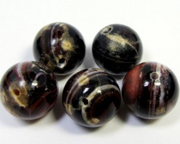 92 CTS  14 MM TOP  FIVE  AGATE  BEADS AGR 272
