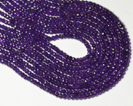 "AFRICAN AMETHYST faceted beads 4mm 14"" LINE AA Grade"