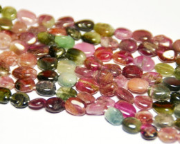 "NEW  6-8mm WATERMELON TOURMALINE TUMBLE beads 13.5"" TOU004"