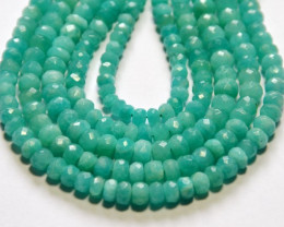 "NEW ARRIVAL AAA Amazonite faceted beads 9"" line 4.5mm"