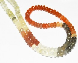 "5mm Moonstone faceted beads 7/5"" line"