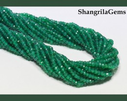 2.5mm to 3mm GREEN ONYX faceted beads 13.5