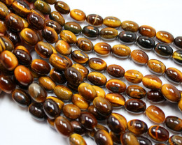 300CTS-1 STRAND TIGER EYE 14 X 10 MM 16 INCH + CLASP
