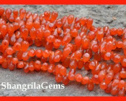 Carnelian briolettes 8mm to 10mm Classic cut  40 apx carb01