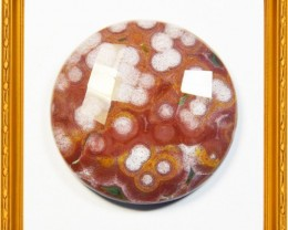 NEW ARRIVAL AAA Ocean Jasper faceted round cabochon 34mm