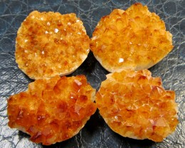 57 CTSFOUR PCS  BRAZIL CITRINE FOR JEWELRY    MS970